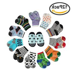 CIEHER 12 Pairs Baby Socks Grip Socks for Baby Baby Socks 6-