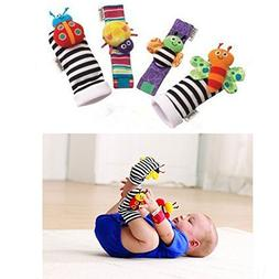 leoyoubei Baby Socks Toys Wrist Rattles and Foot Finders Mul