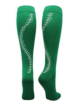 MadSportsStuff Softball Socks with Stitches Over The Calf