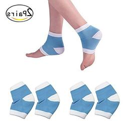 Healthcom 2 Pairs Spa Moisturising Silicone Gel Heel Socks f