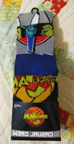 Space Jam Casual Crew Sock 5 Pair Shoe Size 8-12 Movie Bugs