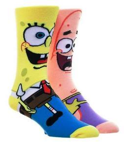 Spongebob And Patrick Adult Crew Socks