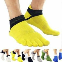 Sport Men Non-Slip Socks Pilates Massage 5 Toe Socks with Fu