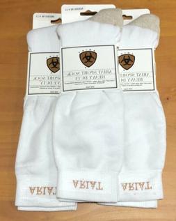 Ariat Sport Sock Heavy Duty Boot Socks, 3 Pair White Medium