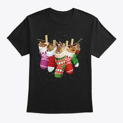 Squirrel-sock-merry Christmas Hanes Tagless Tee T-Shirt