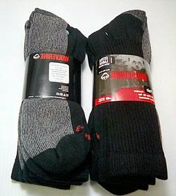 Wolverine Steel Toe Boot Sock, XL, Black, Crew Length, 4pr $