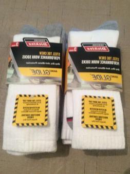 Dickies Steel Toe Work Sock, Shoe Size 6-12, 6 Pairs