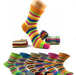 Stripe 6 Pairs Sports Non-Slip Half Toe Yoga Ankle Grip Sock