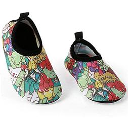 L-RUN Baby Boys Girls Swim Water Shoes Barefoot Quick-Dry Aq