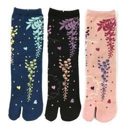Wrapables Tabi Flip-Flop Socks  Pink Black, Blue