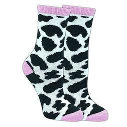 TCK Topsox Cow Print, Eat More Chicken Crew Socks