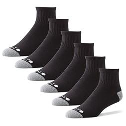 TCS Men's Quarter Performance Athletic Socks with Arch Suppo