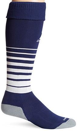 adidas Team Speed Soccer Socks , New Navy/White, Large