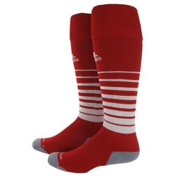 adidas Team Speed Soccer Sock, University Red/White, Medium