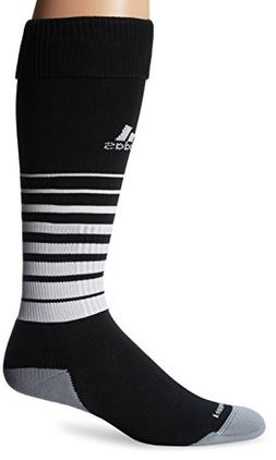 adidas Team Speed Soccer Socks , Black/White, Medium