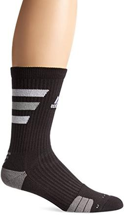 adidas Team Speed Traxion Crew Socks, Black/White/Aluminum 2
