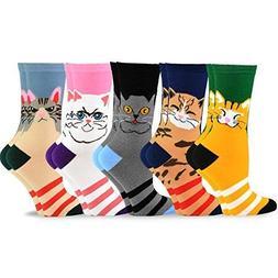 TeeHee Women Girls Fun Cats Meow I love my Cat Cotton Crew S