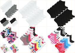 TeeHee Women's No Show Low Cut Fun Socks 12 Pairs Packs Soli