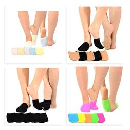 TeeHee Women's Seamless Toe Topper Liner Socks 5-Pack with N