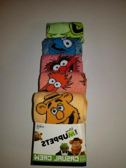 The Muppets Casual Crew Sock 5 Pair Shoe Size 8-12 Disney