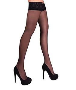 THIGH HIGH Sheer Lace Top Silicone Stockings Nylon Hosiery 2