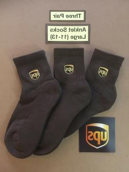 Three Pair ~ANKLET Socks~ Size Men L  United Parcel Service