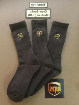 Three Pair ~CREW Socks~ Size Men M  United Parcel Service UP