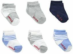 Hanes Boys Toddler 6-Pack Ankle Socks,Assorted,12-24 Months