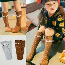 Toddler Baby Kids Girls Cotton Fox Tights Socks Stockings Pa
