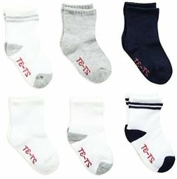 Hanes Toddler Boys 6-Pack Crew Socks, Assorted, 5/2T-3T