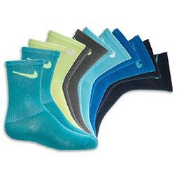 NIKE TODDLER BOY'S SOCKS Size 6-7 US Shoe Size 13C- 3Y MULTI