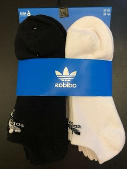 Men's Adidas 6-Pack Original Trefoil No-Show Socks, Size One