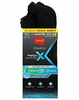 Hanes Ultimate  X-Temp FreshIQ Men's No Show Black 7-Pack