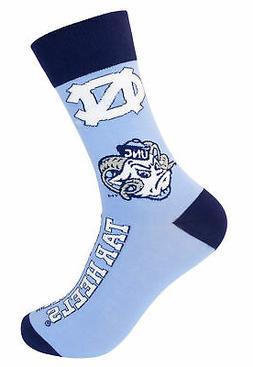 UNC University of North Carolina Tar Heels Crew Socks