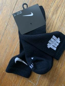 Nike UNDEFEATED Dri Fit Crew Socks Black Size Large Men's 8-