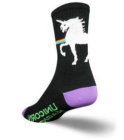 SockGuy Men's Unicorn Express Socks, Black, L-XL/9-13 Men