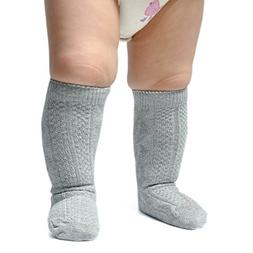 Epeius Unisex-Baby 3 Pair Pack Seamless Cable Knit Knee High