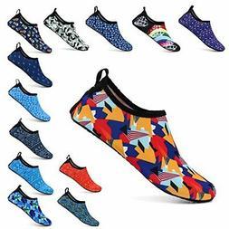 ALEADER Unisex Barefoot Beach Water Shoes Quick Drying Aqua
