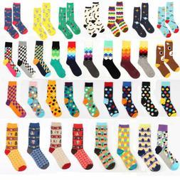 Unisex Casual Cotton Multi-Color Socks Hosiery Fashion Dress