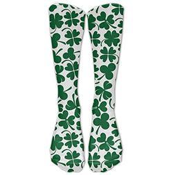 Unisex Cotton Lucky Clover Shamrock Compression Sports Socks