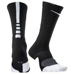 Nike Elite Cushioned Crew Basketball Socks Black/White SX559