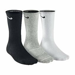 NIKE Unisex Performance Cushion Crew Training Socks , White/