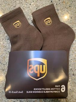 Ups socks 6 pairs anklet lenght brand new size 8-10 Ships AS