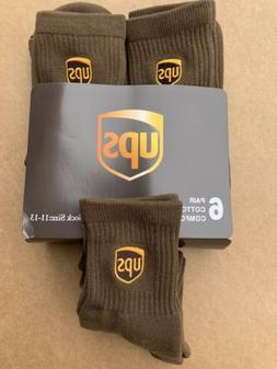 Ups Socks 6 Pairs Anklet Size L 11-13 Ships ASAP!!!