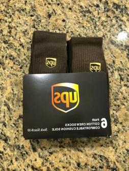 Ups socks 6 pairs crew length brand new size 8-10