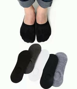 US 10 Pairs Men Invisible No Show Nonslip Loafer Boat Low Cu