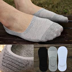 US 6 Pairs Men Cotton Invisible No Show Nonslip Loafer Boat