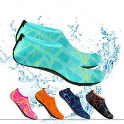 US Men Women Water Shoes Aqua Sock Skin Yoga Exercise Pool B