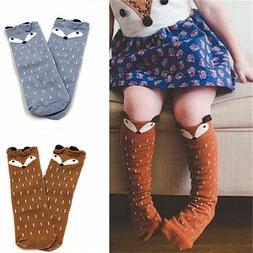 US STOCK Socks For Baby Girls Kids Toddler Fox Socks Cotton