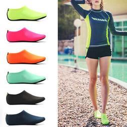 US Unisex Barefoot Water Skin Shoes Aqua Socks for Beach Swi